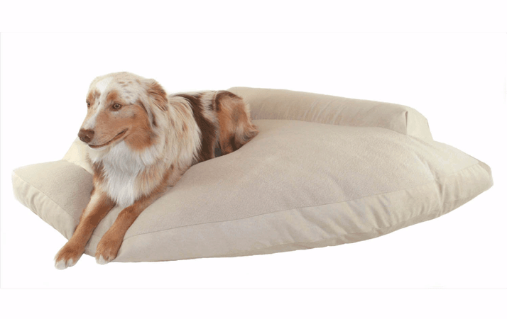 2 Hidden Valley Khaki And Fleece Corner Pet Bed
