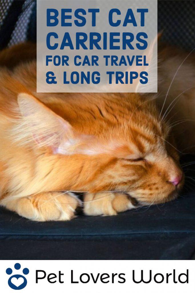 Best Cat Carrier For Long Car Trips Reviews Pinterest Image